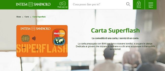 richiesta carta superflash